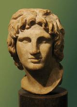 Portrait of Alexander the Great. Marble, Hellenistic artwork, 2nd-1st century BC. Said to be from Alexandria, Egypt. (Source: Wikipedia)