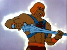He-Man during the transformation sequence in the intro to He-Man and the Masters of the Universe. (Source: Wikia)