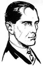 Ian Fleming's original sketch impression of James Bond. (Source: Wikipedia)