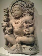 Kubera. Northern India. 10th century. Sandstone. (Source: Wikipedia (Kubera))