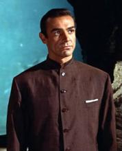 Sean Connery wearing a Nehru Jacket in Dr. No (Source: Affordablebond007 (Dr. No Nehru Jacket))